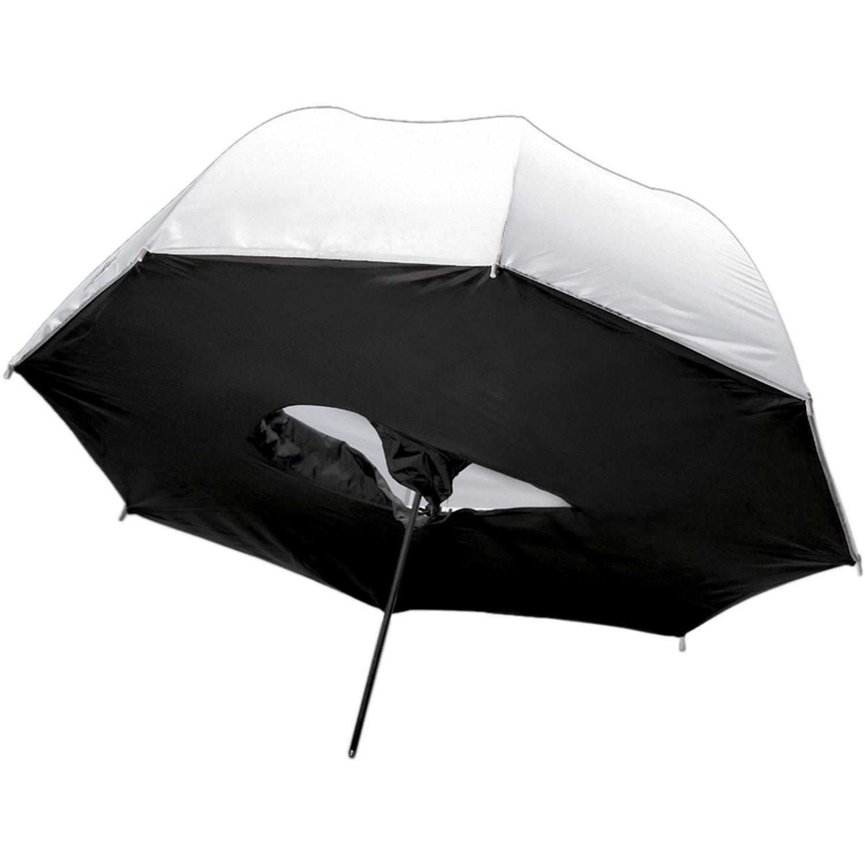 چتر هیزی مشکی/سفید سافت 100 سانتی متر S41