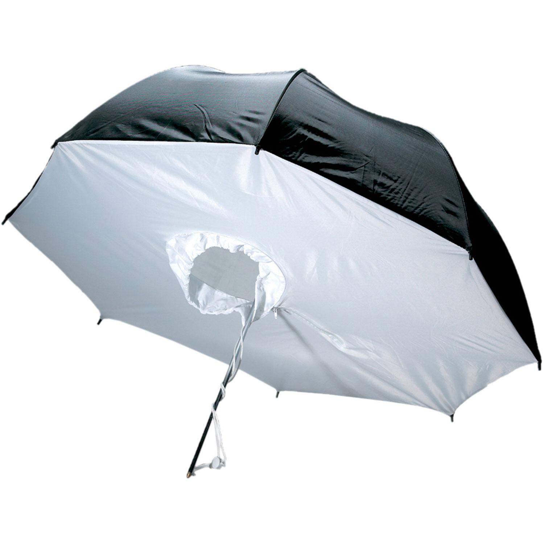چتر هیزی سفید/مشکی رفلکتور 100 سانتی متر S42