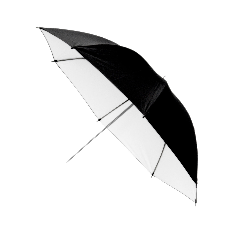 چتر تابشی مشکی داخل سفید 150 سانتی متر  150cm White/Black Umbrella S34