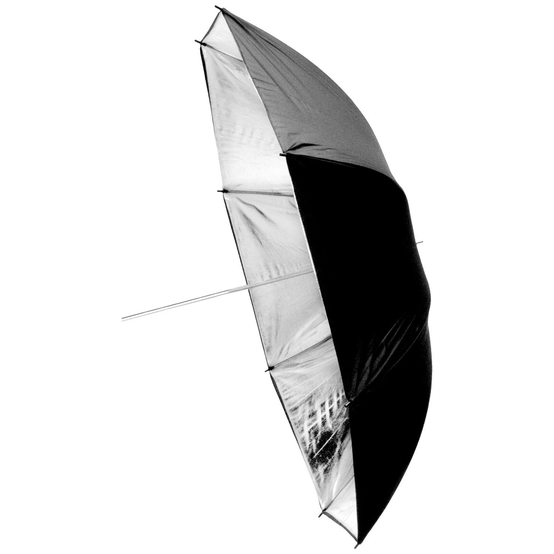 چتر مشکی داخل نقره ای 90 سانتی متر S38
