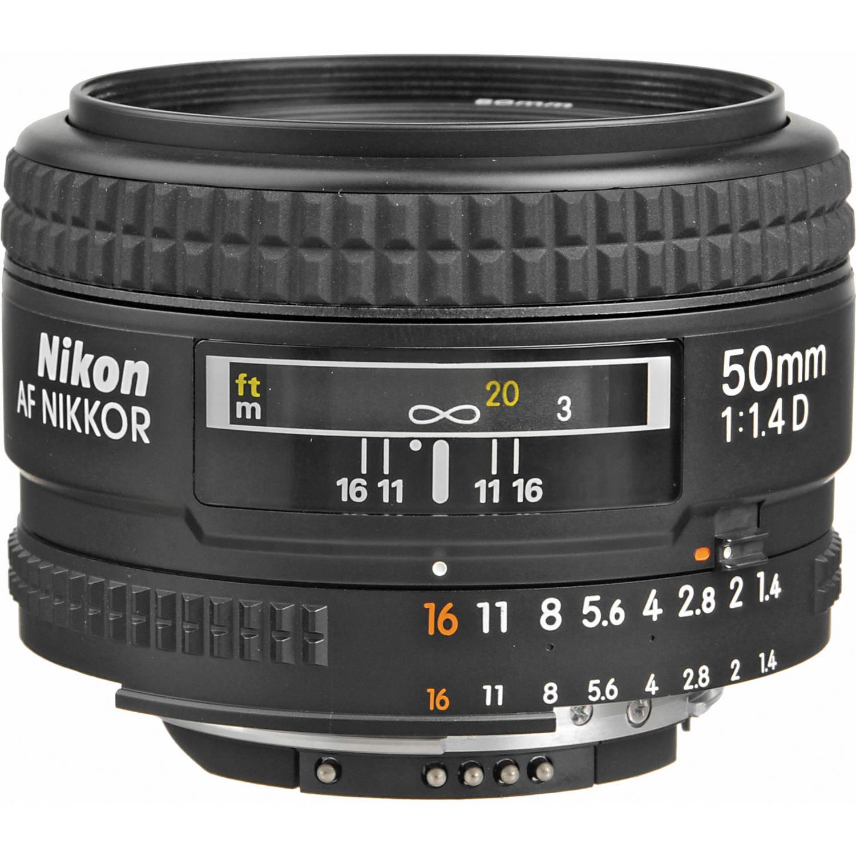 لنز نیکون     Nikon AF NIKKOR 50mm f/1.4D Autofocus Lens
