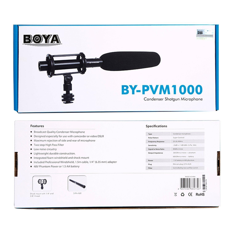 میکروفن بویا          Microphone BY-PVM1000 BOYA