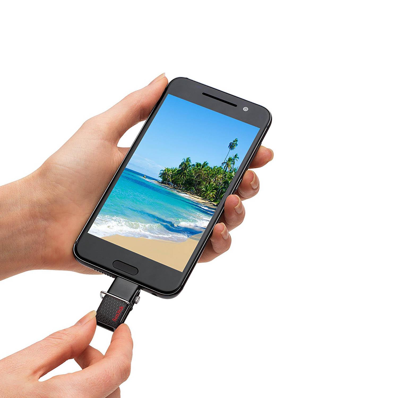 فلش مموری 32GB ultra Dual USB Drive سن دیسک  SanDisk 32GB Ultra Dual USB Drive 3.0