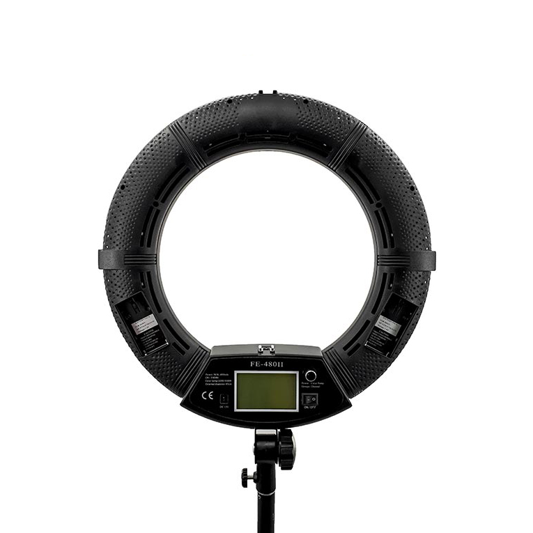 نور رینگ لایت ریموت دار FE-480 II نایس فوتو   nicefoto LED Ring Light FE-480 II With Remote