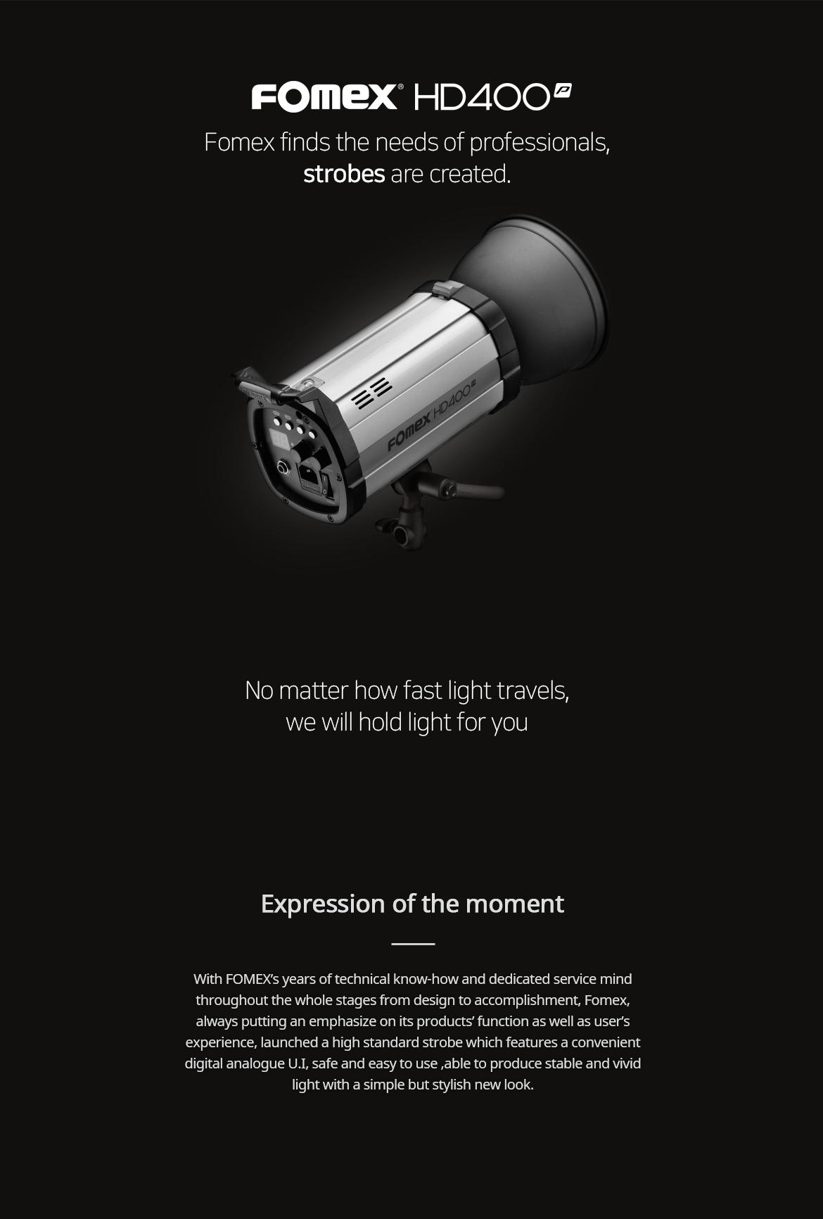 فلاش استودیویی 400 ژول فومکس  (Fomex Dprop Studio Flash 400ws (HD400p