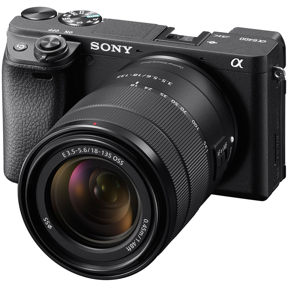 دوربین عکاسی a6400 سونی با لنز 135-18 میلیمتری