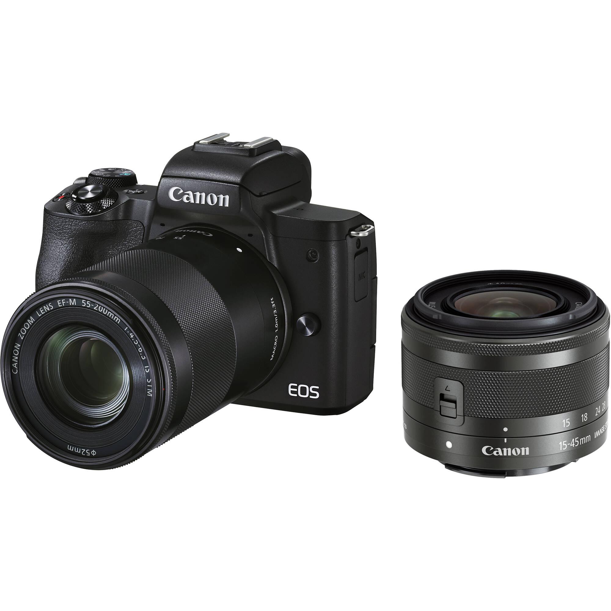 دوربین کانن مدل EOS M50 Mark II همراه با لنز 15-45 میلیمتر