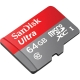 کارت حافظه microSDXC سن ديسک مدل Ultra کلاس 10 استاندارد UHS-I U1 سرعت 533X 80MBps همراه با آداپتور SD ظرفيت 64 گيگابايت