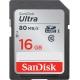 کارت حافظه SDHC سن ديسک مدل Ultra کلاس 10 استاندارد UHS-I U1 سرعت 533X  80MBps ظرفيت 16 گيگابايت