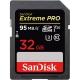 کارت حافظه SDHC سن دیسک مدل Extreme Pro V30 کلاس 10 استاندارد UHS-I U3 سرعت 633X  95MBps ظرفيت 32 گیگابایت