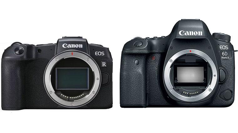 دوربین کانن RP و دوربین کانن 6D II